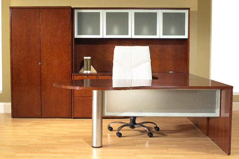 Jade Series Wood Veneer U-Shape Desk