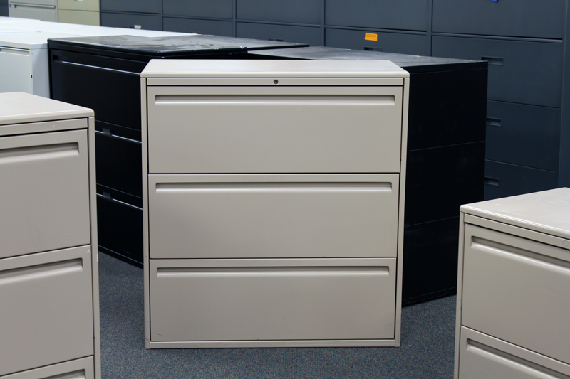 Haworth 3 Drawer Lateral File Cabinet