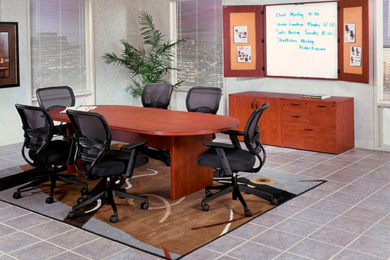 Laminate Wood Racetrack Conference Table