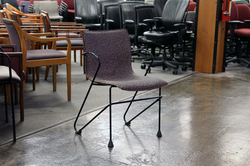 Used Metal Frame Stack Chairs