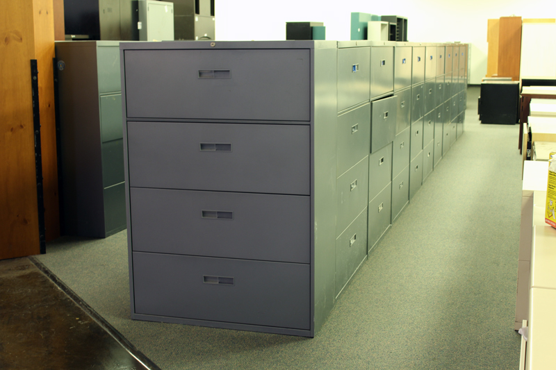 Steelcase 4 Drawer Lateral File Cabinet U2013 Gray