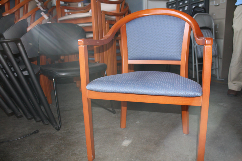 Used Cherry Wood Guest Chair – Stackable