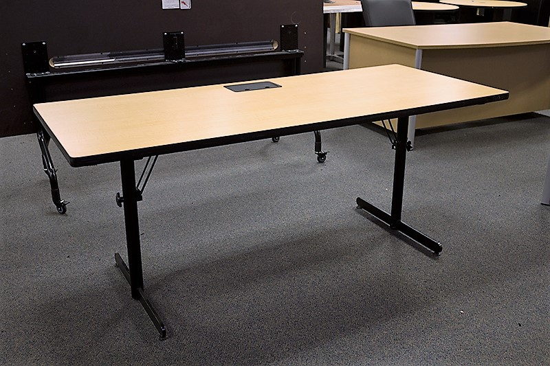 Attractive Used Nevins Folding Training Table