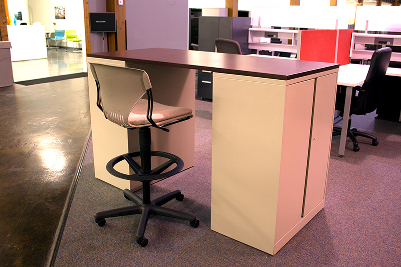 Used Standing Working Island Desk