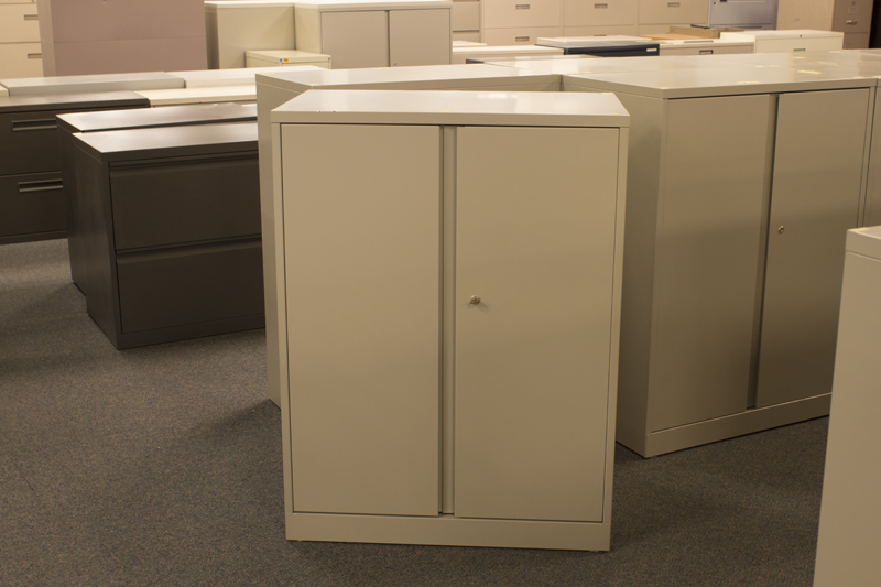 Used Steelcase 2 Door Storage Cabinet